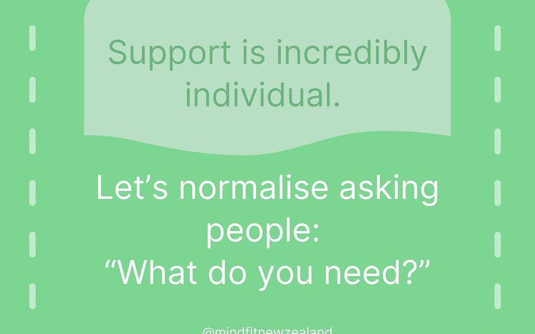 Supporting Someone? Here's a small tip!